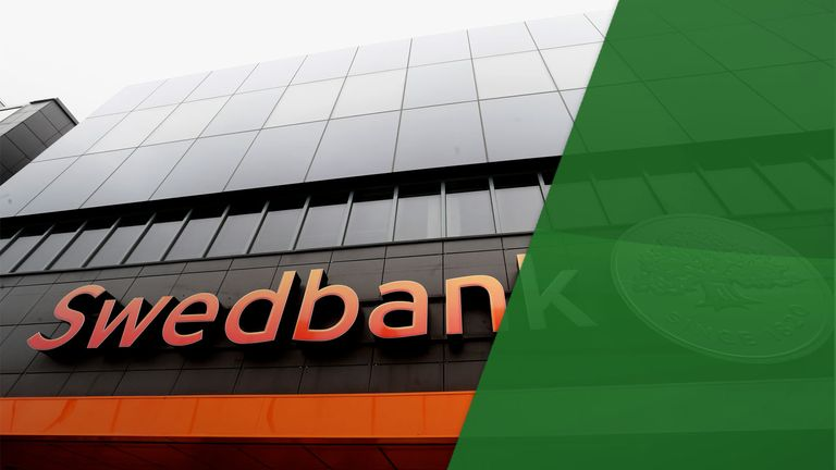 Swedbank's local headquarters in Tallinn, Estonia