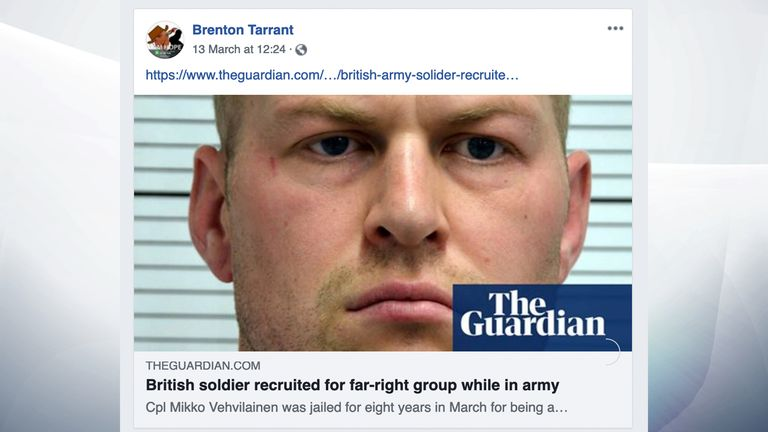 Social media posts by Brenton Tarrant, accused of killing 49 people in the New Zealand city of Christchurch