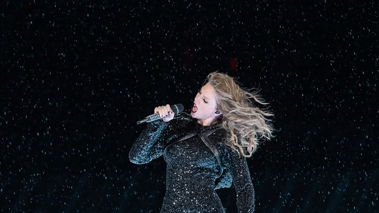 Taylor Swift performs at ANZ Stadium on November 02, 2018 in Sydney, Australia, for her Reputation tour