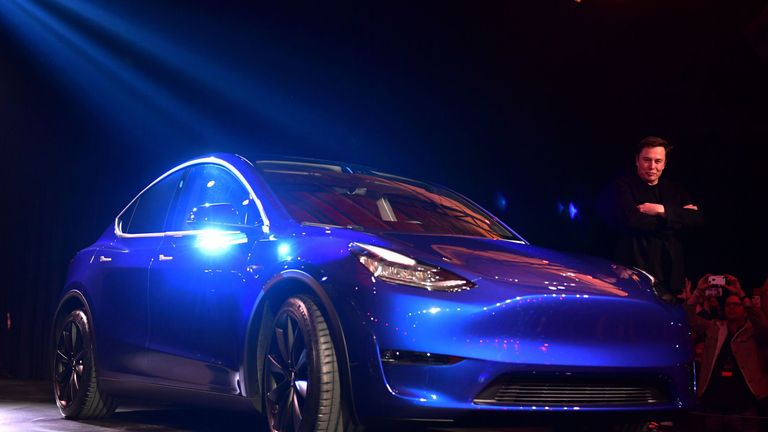 Elon Musk launches the Tesla Model Y