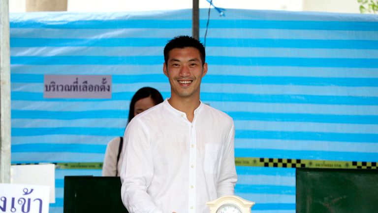 The leader of the Future Forward Party Thanathorn Juangroongruangkit