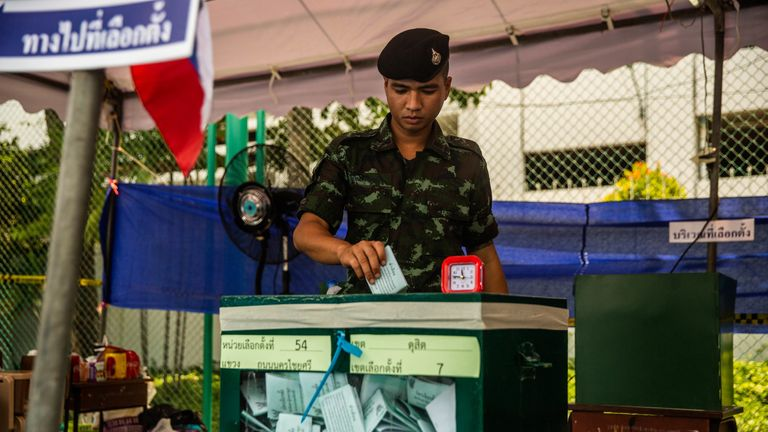 Provisional results show the pro-military party won the popular vote, but official results will be confirmed by 9 May.