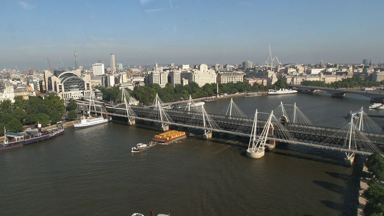 The River Thames in London had 84.1 microplastics per litre of water