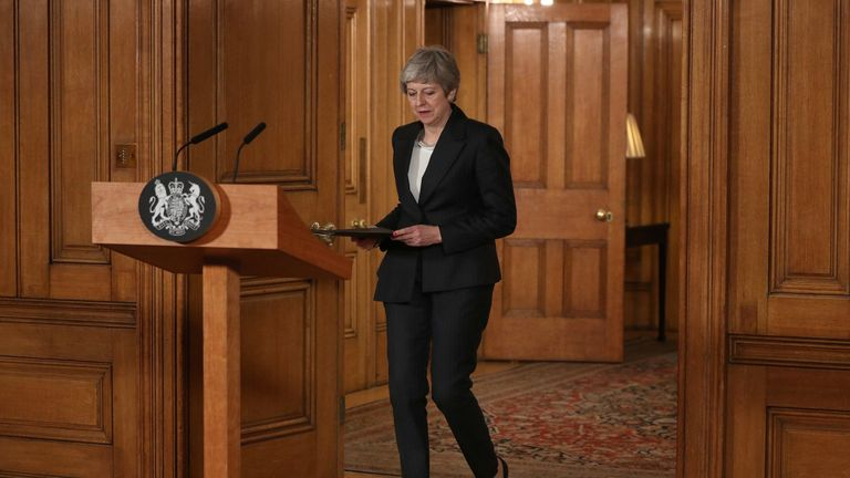 Theresa May prepares t address the nation