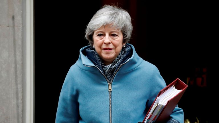 Theresa May is seeking to gain support for her EU withdrawal agreement