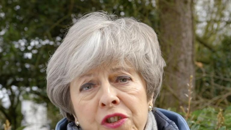 Theresa May speaks on New Zealand shootings