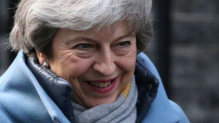 Britain's Prime Minister Theresa May leaves 10 Downing Street in London on March 14, 2019, ahead of a further Brexit vote. - British MPs will vote today on whether to ask the European Union for an extension to the March 29 Brexit deadline, with the whole process mired in chaos. (Photo by ISABEL INFANTES / AFP) (Photo credit should read ISABEL INFANTES/AFP/Getty Images)