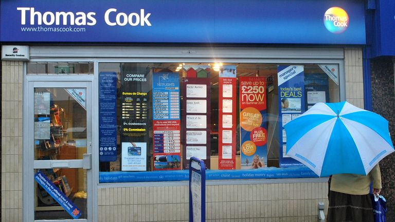 Thomas Cook is closing 21 stores across the UK