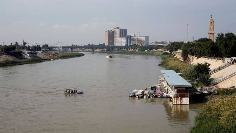 The ferry sank in the Tigris river. File picture