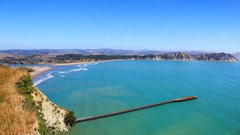 Tolaga Bay wharf, East Cape, New Zealand