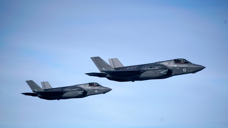 F35-B Lightning stealth jets, which will take over capabilities from Tornado force