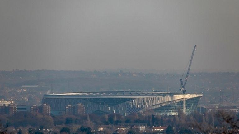 Tottenham's new stadium - seen from Alexandra Palace