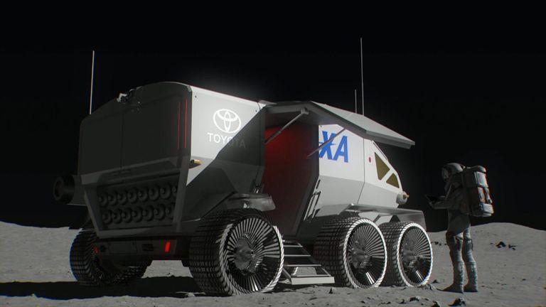 Toyota's next-generation lunar rover