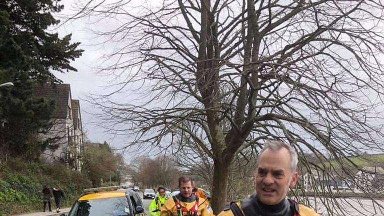 The local coastguard assisted in the search. Pic: Falmouth Coastguard Rescue Team