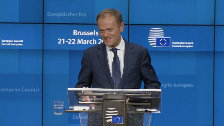 Donald Tusk on the brexit extension.