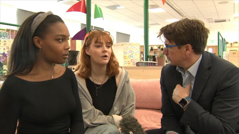 Tzeamara Goddard, 21 and Hannah Carson, 21 have set up self-help groups on the university grounds for people to discuss their problems