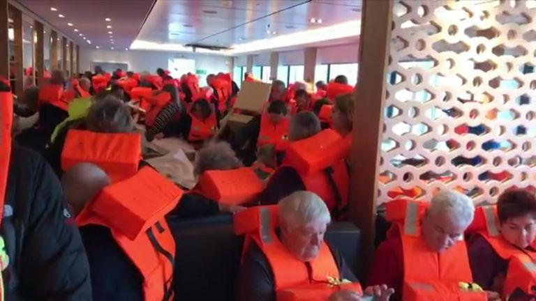 Passengers on the Viking Sky ship. Pic: Ryan Flynn