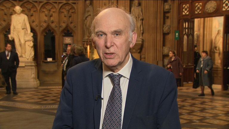Vince Cable told Sky News that Mr Corbyn walked out of a cross-party meeting