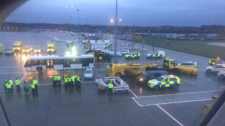 Passengers on a Virgin flight landing at Gatwick reported feeling unwell. Pic: Trevor Wilson