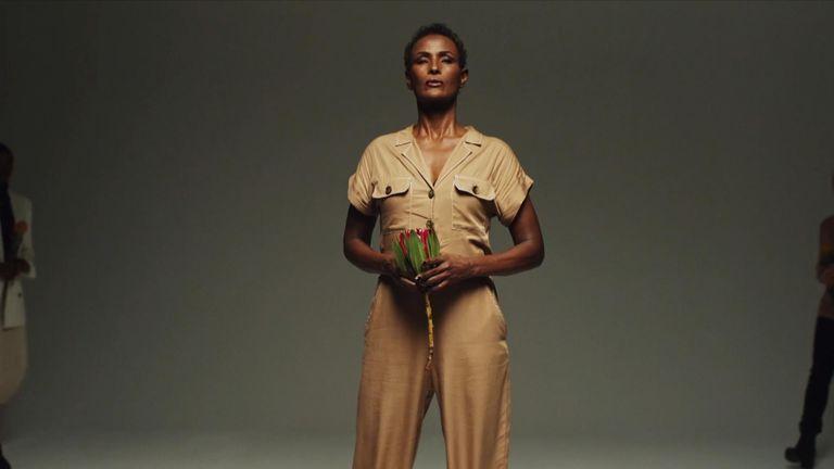 Model Waris Dirie campaigns against FGM.