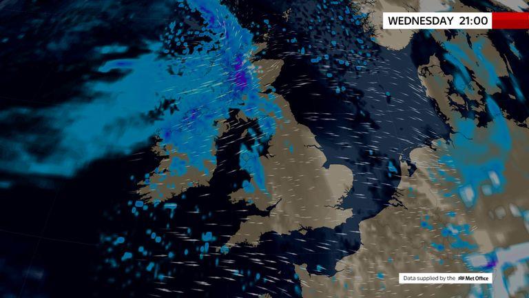 Scotland Weather Map.Uk Weather The Latest Sky News Forecast Weather News Sky News