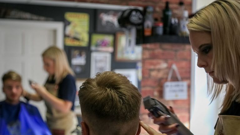 She opened her own barber shop when she couldn't find a job