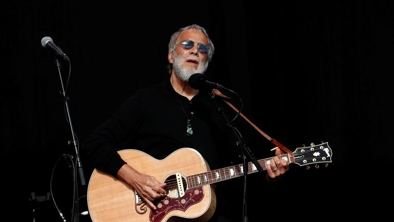 Yusuf Islam, also known as Cat Stevens, performed at the service