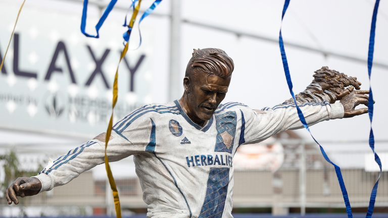 WATCH  David Beckham statue unveiled at LA Galaxy  47eae43a6