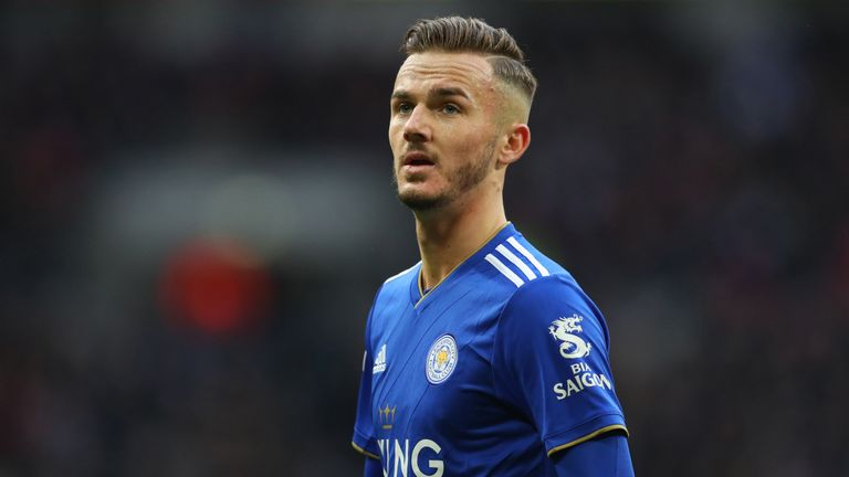 Brendan Rodgers says 'top talents' such as James Maddison will always draw attention from other clubs but insists he is happy at Leicester