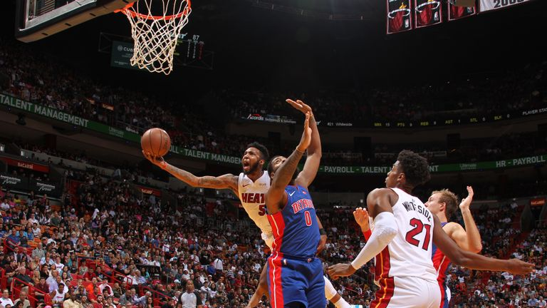 Highlights of the Detroit Pistons' 108-74 blowout loss to the Miami Heat