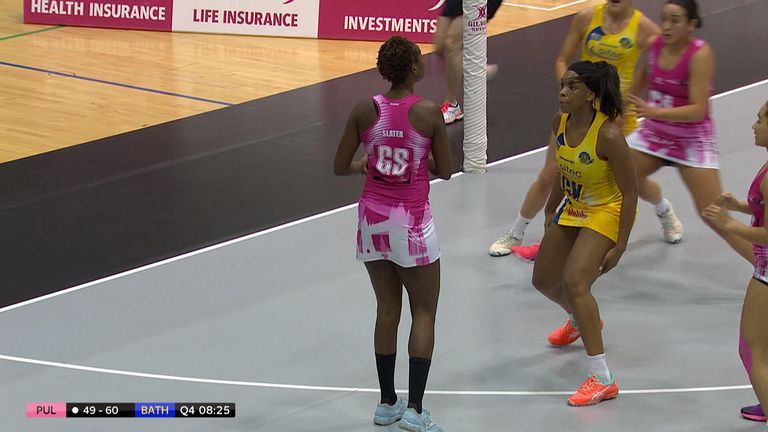 Look back at the highlights of London Pulse hosting Team Bath Netball at the Copper Box Arena