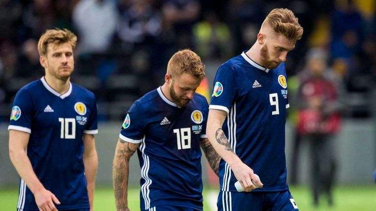 Scotland's players trudge off after a defeat Craig Gordon called as bad as any they have suffered