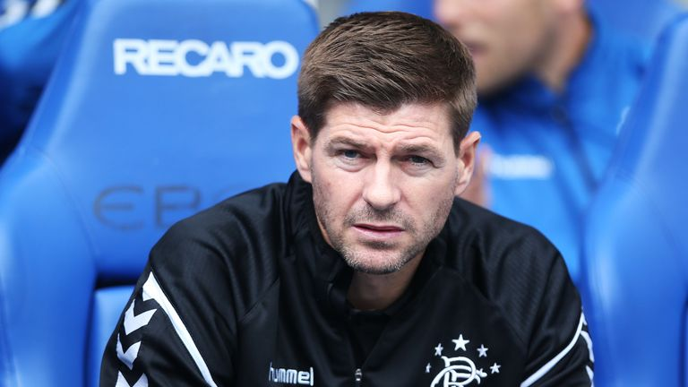 Steven Gerrard admits he is aware of interest in him from Derby County but he insists he remains fully focused on Rangers.