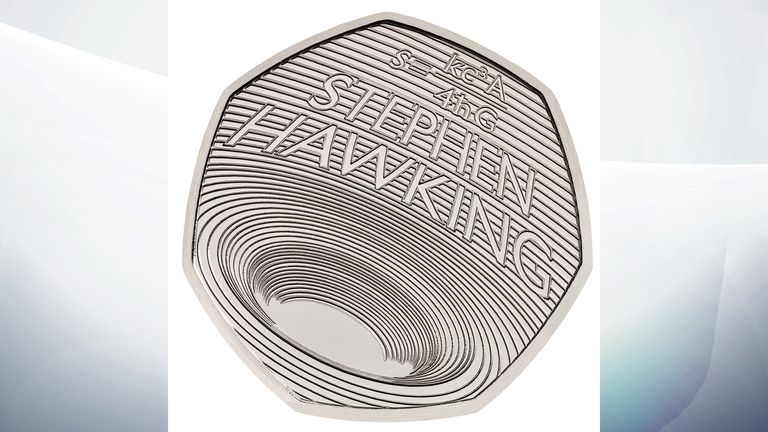 The new 50p coin design has been inspired by Stephen Hawking's work on black holes