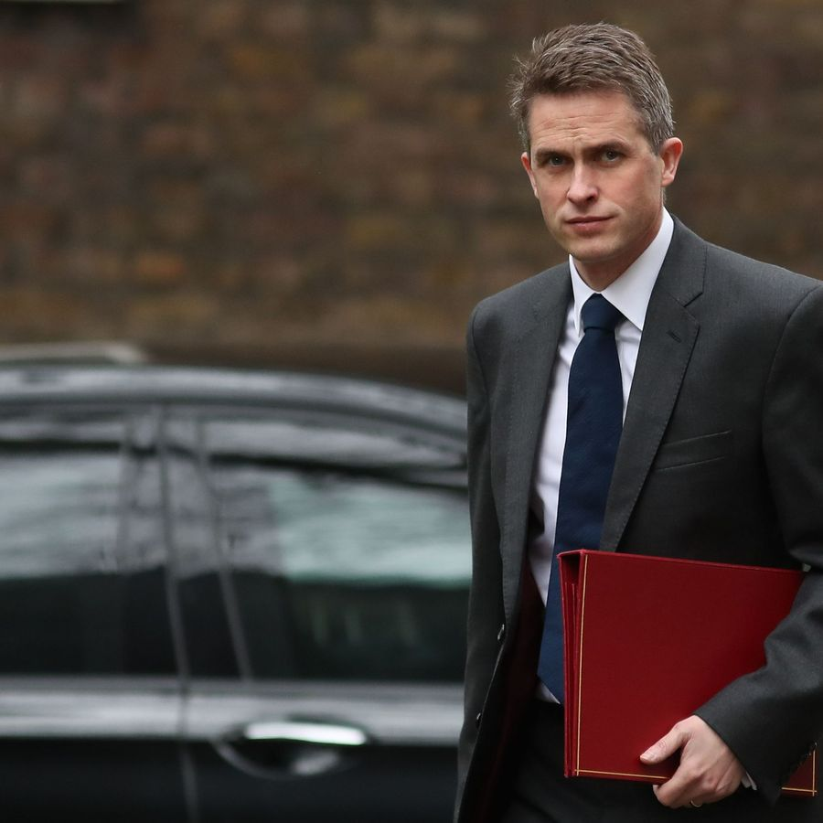 Britain's Defence Secretary Gavin Williamson arrives for the weekly cabinet meeting at 10 Downing Street in London on March 12, 2019