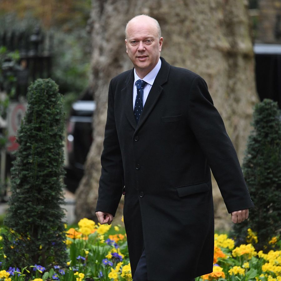 LONDON, ENGLAND - MARCH 12: Transport Secretary Chris Grayling arrives for the weekly cabinet meeting at 10 Downing Street on March 12, 2019