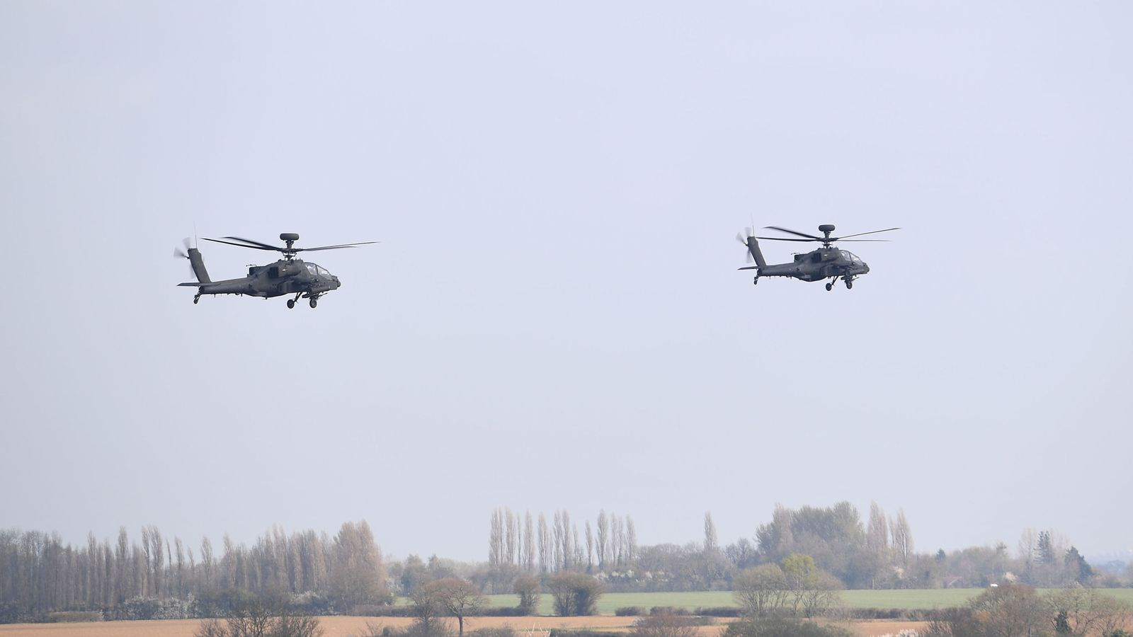 UK deploys attack helicopters to deter 'credible' Russian threat