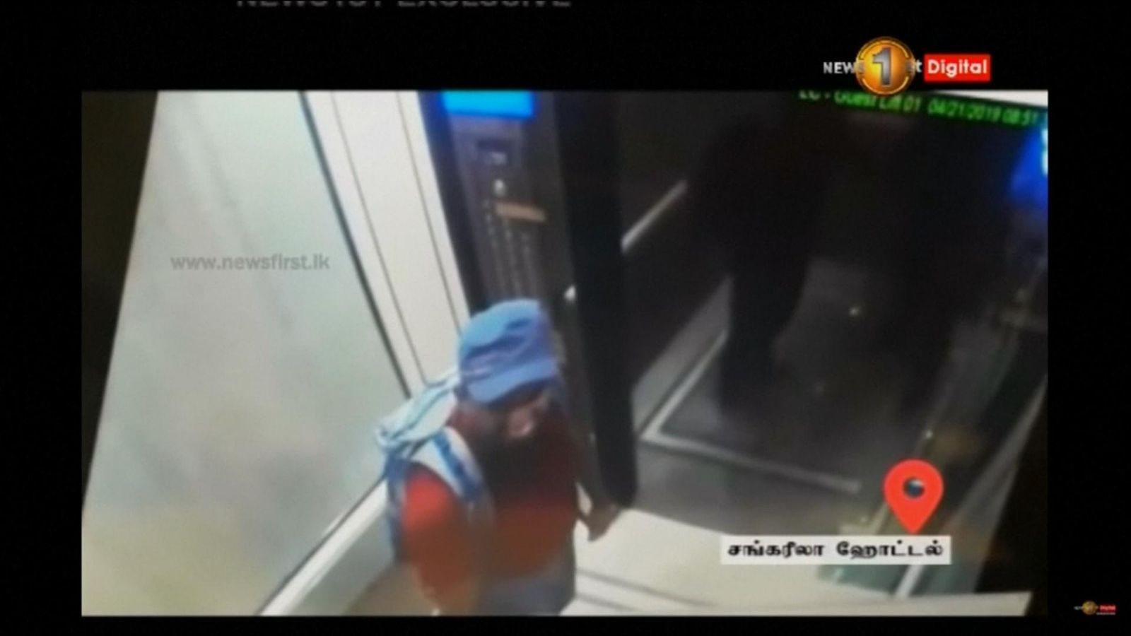 CCTV shows terror suspects at Shangri-La Hotel in Colombo