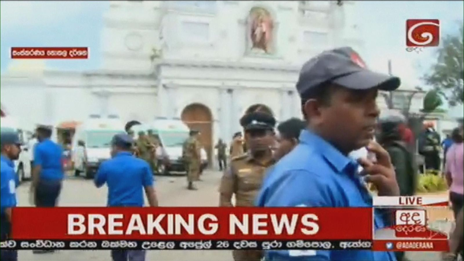 Explosions at churches and hotels in Sri Lanka - reports