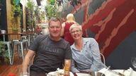 Bill Harrop and Sally Bradley in Australia. Pic: Michael McClean