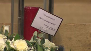 Wreaths laid at Hillsborough memorial