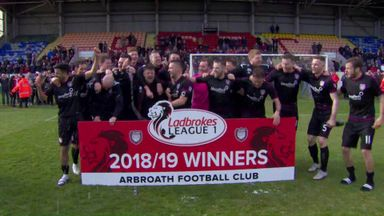 Arbroath crowned Scottish L1 champions