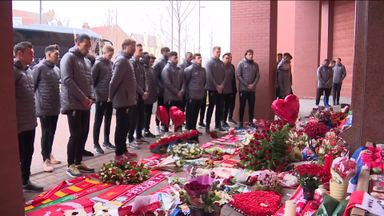 Liverpool players' Hillsborough tribute