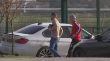 Bolton players arrive at training