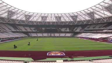 West Ham's new claret pitch surround