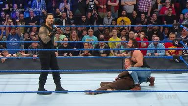 Reigns decks McMahon on SmackDown debut!
