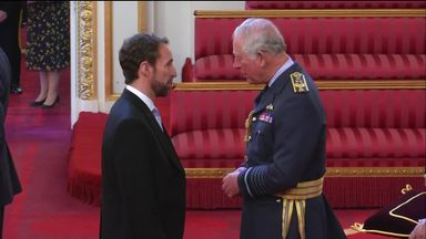 Southgate receives OBE from Prince Charles