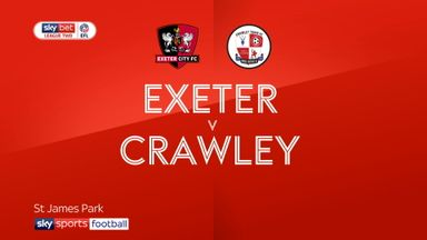 Exeter 1-3 Crawley