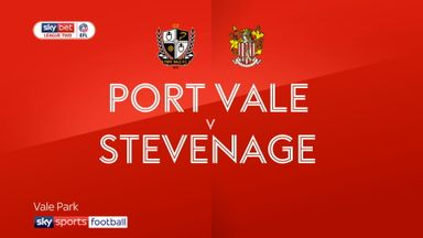 Port Vale 1-4 Stevenage