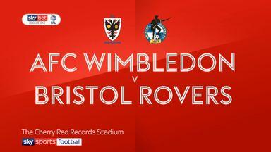 AFC Wimbledon 1-1 Bristol Rovers